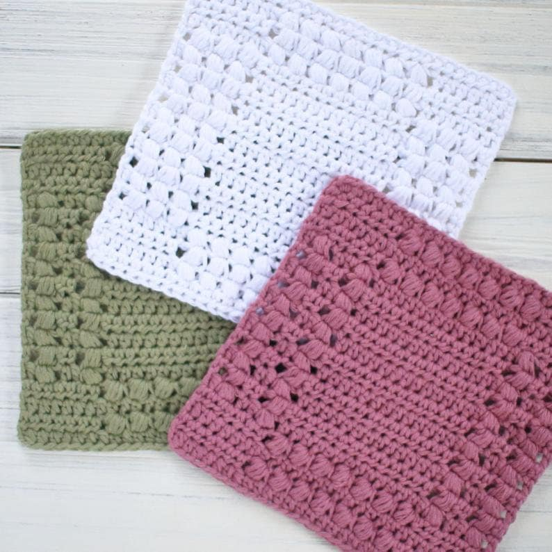 Crochet Pattern  DIY Washcloth  Crochet Dishcloth Pattern  image 0