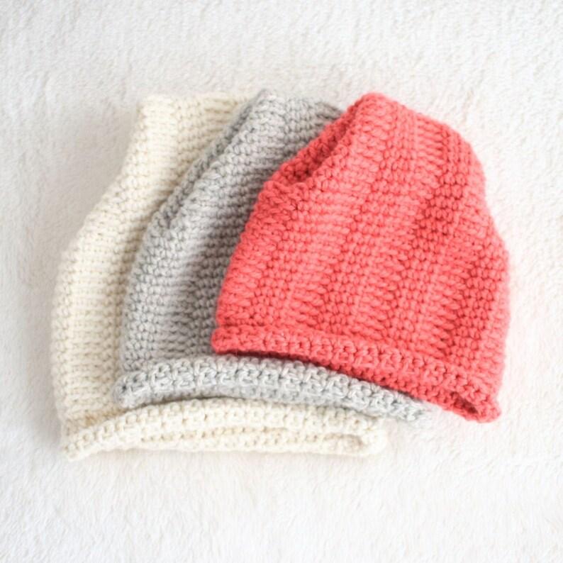 DIY Winter Hat  Hat Pattern  Crochet Beanie Pattern  Childs image 0