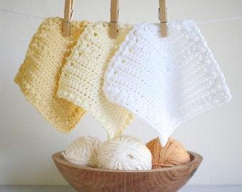 Dishcloth Pattern, Blanket Pattern and Coaster Pattern - Flutterby Baby Blanket Crochet Pattern by Golden Strand Studio - P-Flutterby