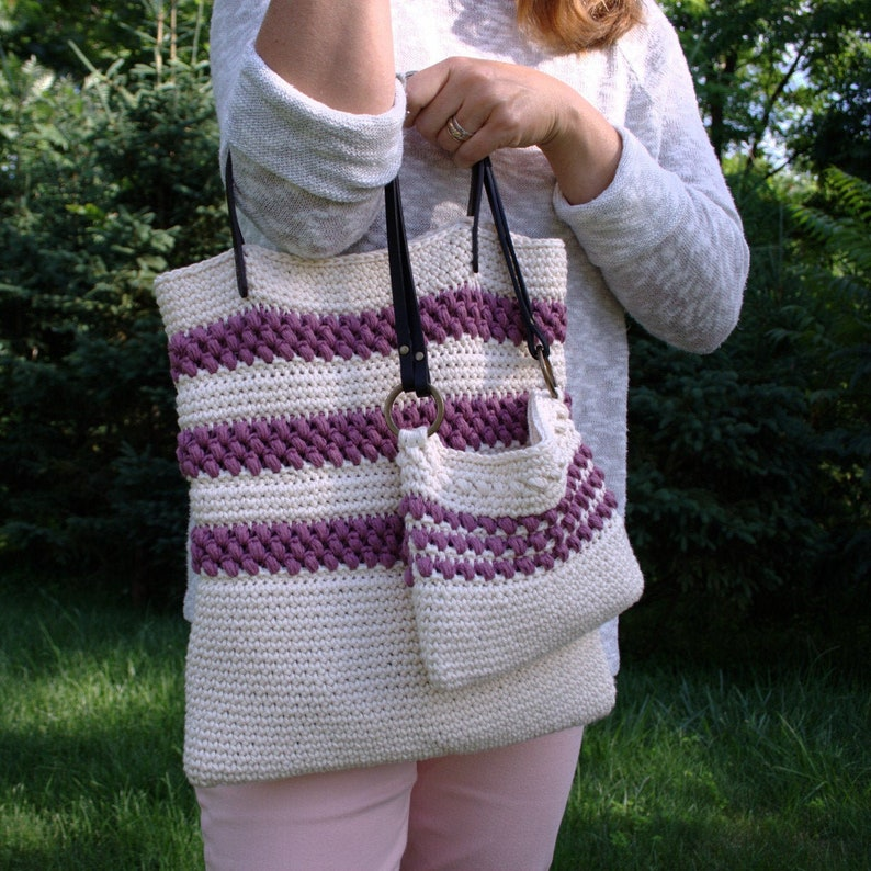 Tote Bag Pattern Crochet Bag Pattern DIY Gift for Mom Womens image 0