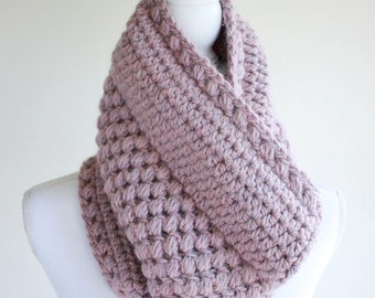 Cowl Pattern / Womens Cowl Scarf Pattern / Crochet Scarf Crochet Pattern / DIY Cowl / DIY Gift for Women - Gathered Buds Cowl P131