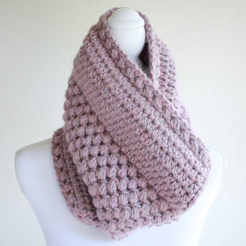Cowl Pattern / Womens Cowl Scarf Pattern / Crochet Scarf image 0
