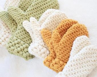 Mitten Pattern / Toddler Winter Mittens Crochet Pattern / DIY Mittens / Gathered Buds Mittens by Golden Strand Studio - P-GBMittens