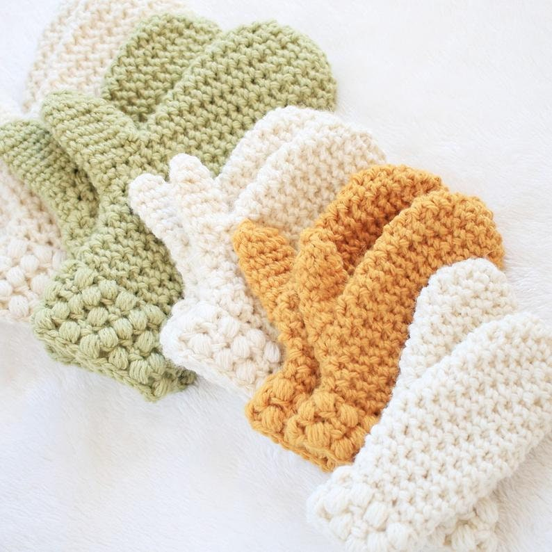 Mitten Pattern / Toddler Winter Mittens Crochet Pattern / DIY image 0