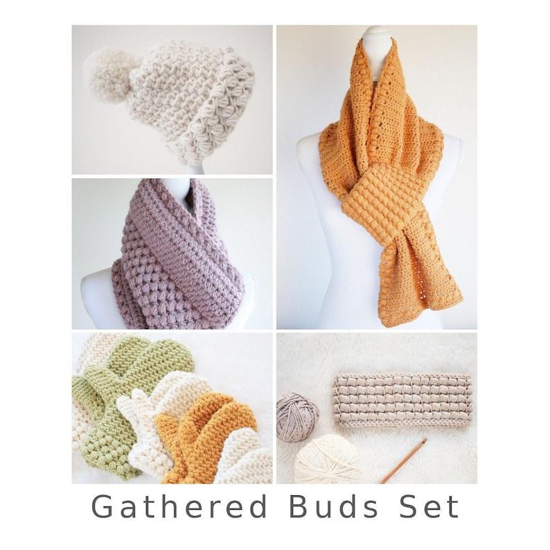 Crochet Pattern Set / Crochet Scarf Pattern Headband Pattern image 0