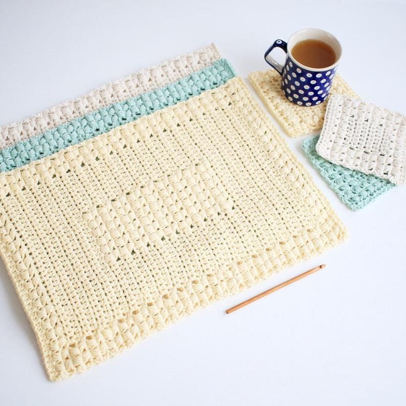 Crochet Placemat Patterns / Crochet Coaster Patterns / Crochet image 0