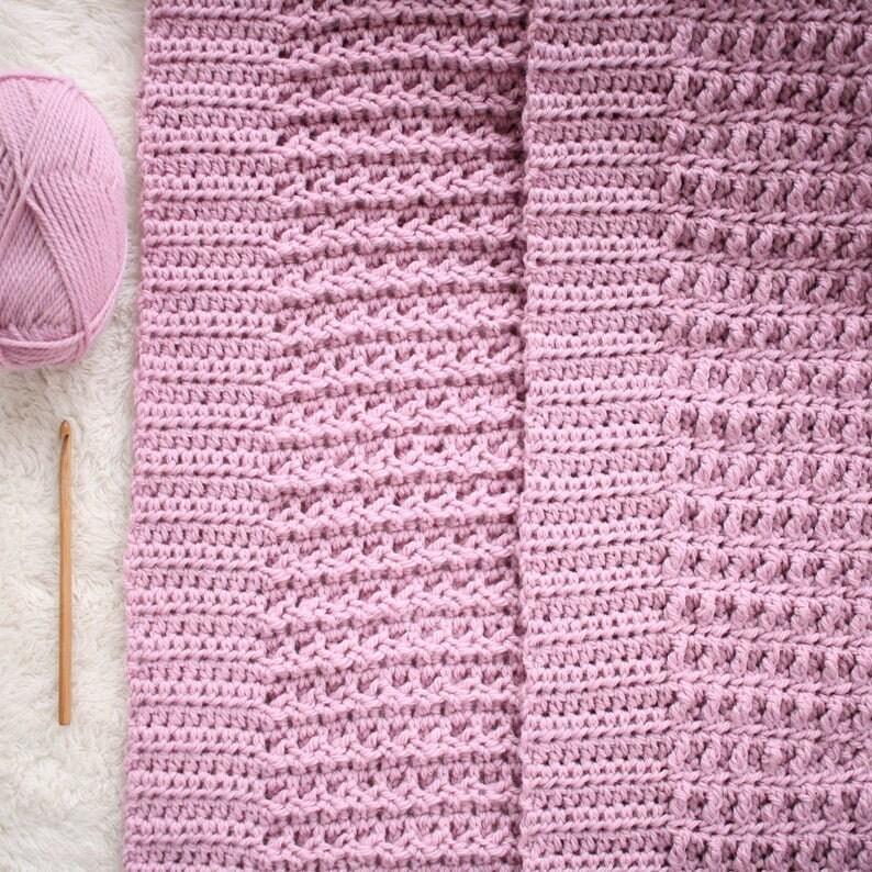 Crochet Pattern  Nestlen Baby Blanket Pattern / Afghan image 0