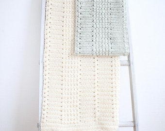 Blanket and Scarf Pattern Set / Crochet Pattern / DIY Baby Blanket Pattern / Baby Afghan Pattern by Golden Strand Studio - P-Enchanted