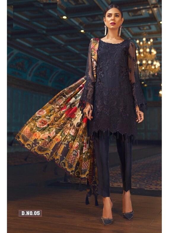 Black Party Wear Pakistani Salwar Suit Pakistani Salwar Kameez Pakistani Kameez by Etsy