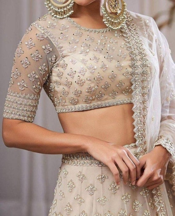 Exclusive Georgette Lehenga Choli With  Zari Sequence Work And Georgette Dupatta For Women