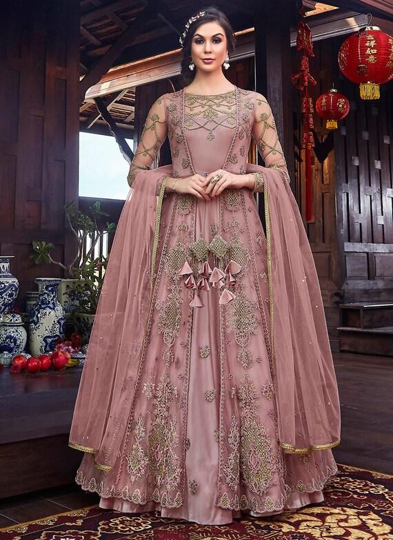 Heavy Designer Embroidered Wedding Wear Indo Western Suit Etsy