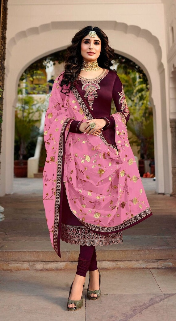 Beautiful Traditional Party Wear Straight Cut Suit Heavy Designer Salwar Suit With Attractive Duppata Festive Wear Salwar Suit by Etsy