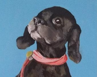 Custom Pet Portrait - Pet Portrait for Christmas - Pet Portrait Birthday Present