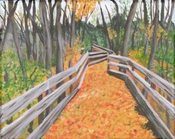 PRINT Leafy Path Fine Art Giclee Print 5 x 7