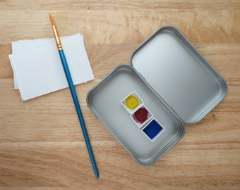Travel Watercolor Kit - Basic Watercolor Travel Kit - Travel Watercolor Kit - Travel Watercolor Pallette - Pocket Watercolor Kit
