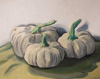 PRINT White Pumpkins Fine Art Print 8 x 10