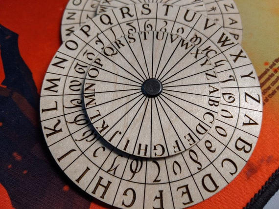 Fantasy Caesar Vigenere Cipher Wheel And Translator Etsy