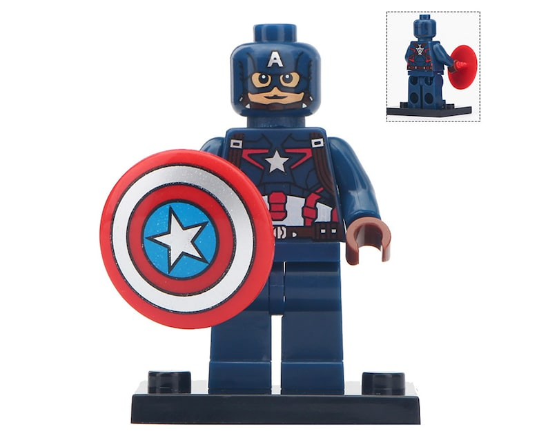 Christmas Edition Captain America Marvel Universe Custom Lego Minifigures