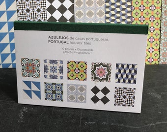 Postcard Set of 10, Portuguese tiles postcards, stocking filler for everyone, writing or decoration postcards, tile patterns