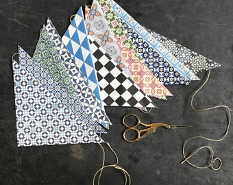 Make your own... festive garland, Portuguese tiles patterns, stocking filler for everyone, craft materials for family activities