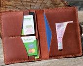 Leather passport cover,Double Passport Wallet,Passport Case,Mens Passport Wallet,Leather Travel Wallet,Leather Passport Holder