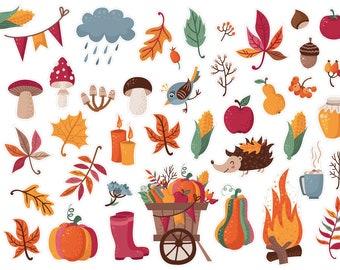 erin condren Fall planner stickers bujo Cute Autumn planner stickers