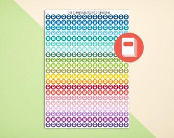 Small Circle StickersPlanner Stickers fErin Condren #1043 Mini Dots
