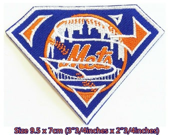 New York Mets 3inch Baseball Sport Embroidery Patch logo iron,sewing on Fabric