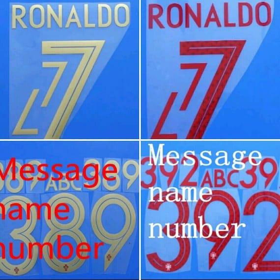 PORTUGAL Home Away World Cup 2018 Name Set RONALDO QUARESMA Soccer Jersey Patch