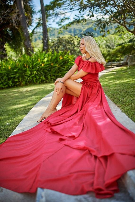 Empress Flying Dress Photo Shoot Dress Photoshoot Dress Wedding Photoshoot Dress Flowy Dress Flowy Wedding Dress Flying Dress