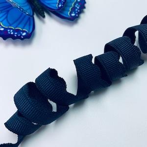 13 Picot Plush Elastic Bramaking Supplies Blue by 8 yards Finishing Bra making Elastic Edge Elastic for bras Lingerie Stretch Trim