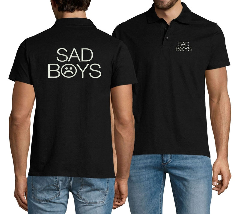 Embroidered Sad Boys Rapper Sportswear Polo Shirt For Man Top Tees Summer Wear