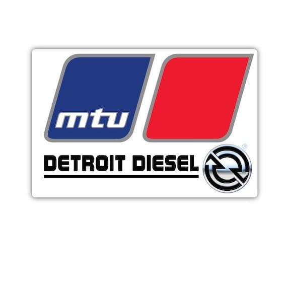 Detroit Diesel Retro Heavy Duty Logo Vinyl Sticker Decal Car Bumper Truck