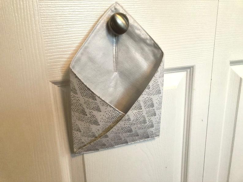 Christmas Sparkle Hanging Doorknob Pocket Christmas Card Holder