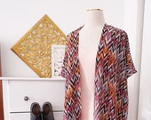 Womens Chevron Duster - Bohemian Apparel - Spring Accessories - Beach Cover Up
