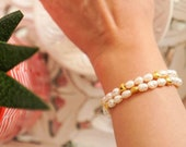 Freshwater Pearl Heart Bracelet