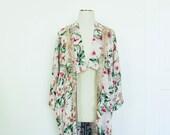 Women's Pink Floral Kimono