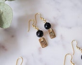 Zodiac Earrings in Black Onyx for Birthday Gift