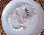 Custom Bracelet Set | Stackable Gemstone Bracelets | Customized Jewelry