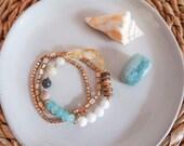 Mixed Stone Bracelet - Amazonite - Citrine
