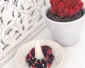 Fuego - Red Black Jasper Bracelet Set