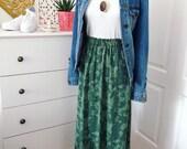 Women's Green Camo Midi Skirt - Size Small/ Medium