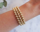 18k Gold Filled Beaded Bracelets | Gift Ideas for Her | Dainty Jewelry | Stackable Bracelets