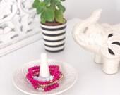 Hot Pink Moonstone Bracelet Set - Dulce