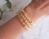 Natural Citrine Gemstone Bracelet in 6mm