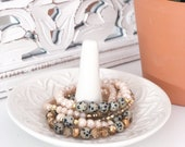 Canela - Blush Dalmatian Jasper Bracelet Set