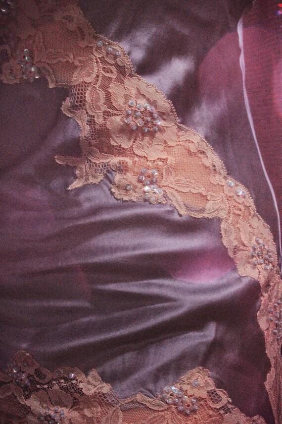 Ethereal Vintage Lavender Silk Slip Dress