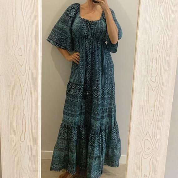 Boho dress hippie dress lovely dress INdia HAnDmaDe MAxi dReSs,HIppie SKirt ,bohemian DReSs FEstival Gypsy DReSs , VEgan GIft freeSpirit