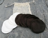 Bamboo Soft Cotton Makeup Pads Storage Bag - Wash Bag -Face Pads -Cleansing -Makeup Remover- Rounds -Cloths -Eco -Zero Waste - gift