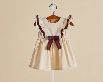 e4f39f5b4d03 Girls dresses, kids, toddlers, white, beige, all seasons, holidays,  birthdays, gifts, sizes 1-6 years, sleeveless dresses, Gucci inspired